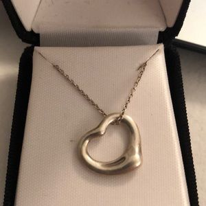 Tiffany and co Elsa heart necklace